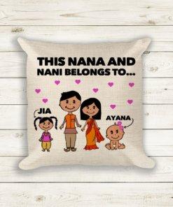 personalised nana nani grandad grandma cushion