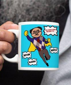 super nana, super dada, super grandpa mug